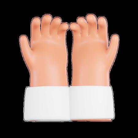 Praying Hands 3D Illustration