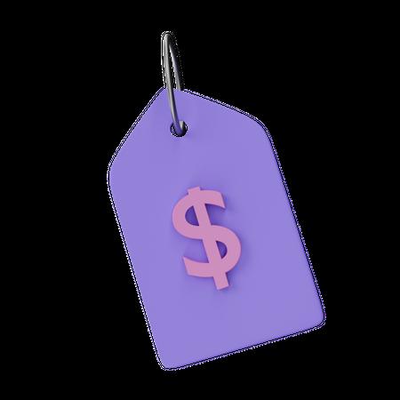 Price Tag 3D Illustration