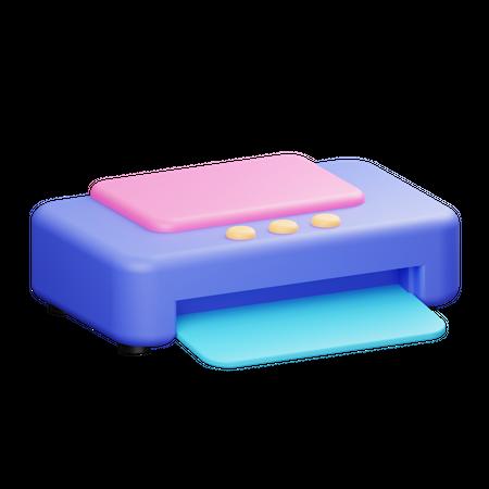 Printer 3D Illustration