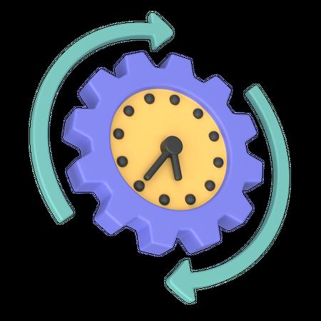Processing Time 3D Illustration