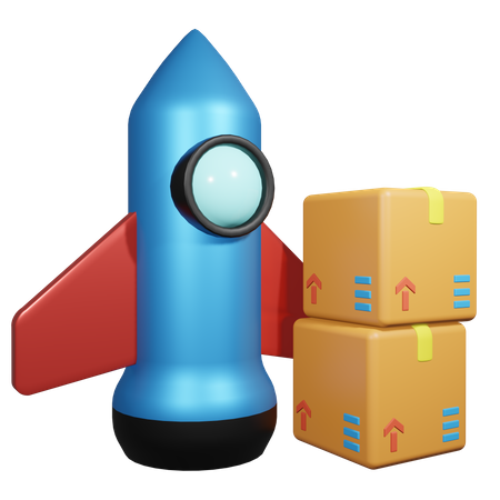 Product Launch 3D Illustration