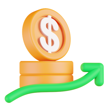 Profit 3D Illustration