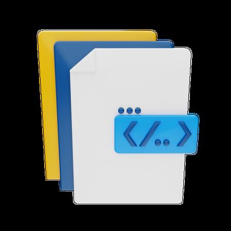 Programming File 3D Illustration