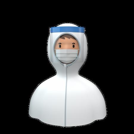 Protection Suit 3D Illustration