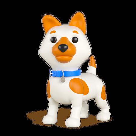 Puppy 3D Illustration