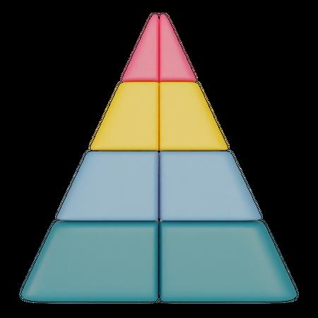 Pyramid Chart 3D Illustration