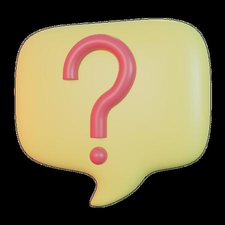 Question 3D Illustration