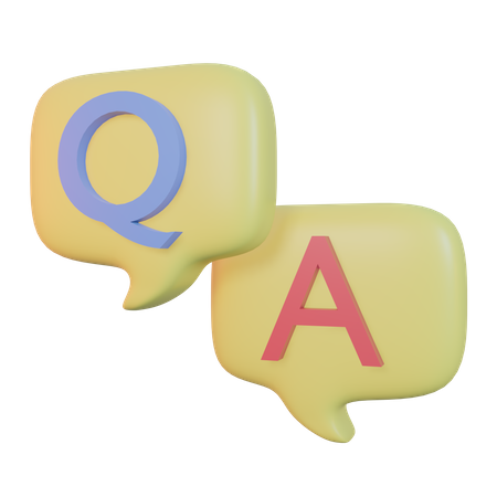 Question And Answer 3D Illustration