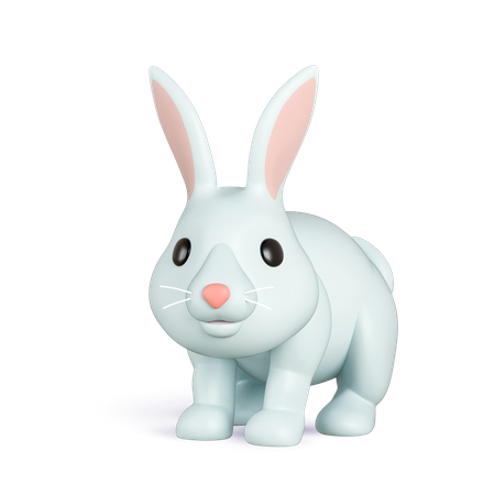 Rabbit 3D Illustration