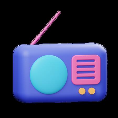 Radio 3D Illustration