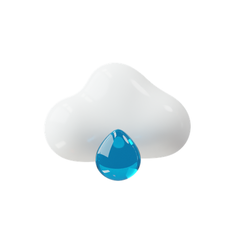 Rain 3D Illustration