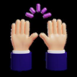 Raised hand gesture
