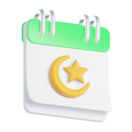 Ramadhan Calendar 3D Illustration