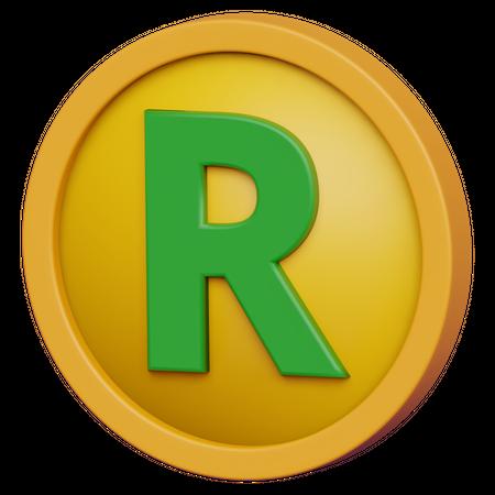 Rand Coin 3D Illustration