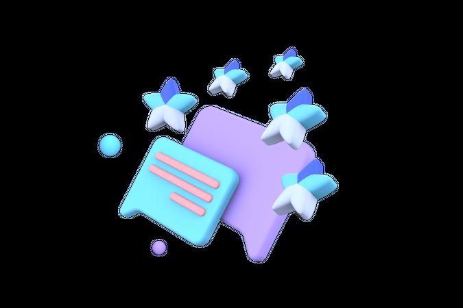 Rating App 3D Illustration