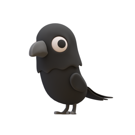 Raven 3D Illustration