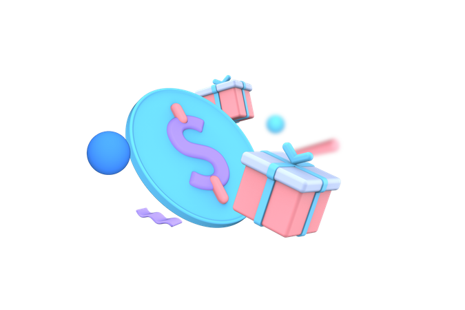 Receive Gift Points 3D Illustration