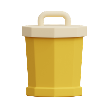 Recycle bin 3D Illustration