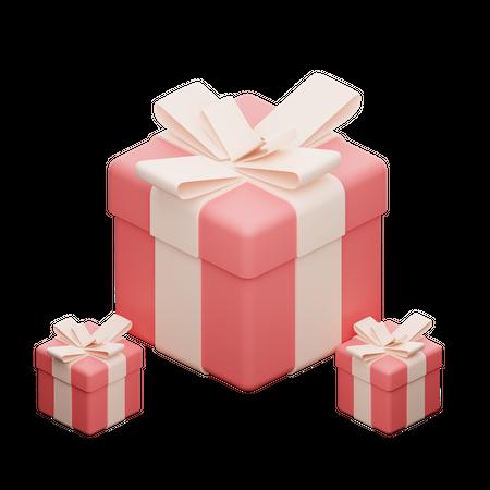 Red Gift Box 3D Illustration