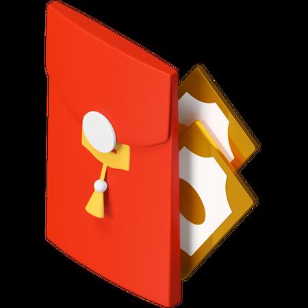 Red pocket 3D Illustration
