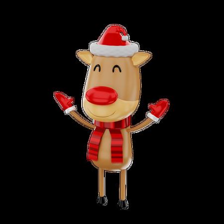 Reindeer 3D Illustration
