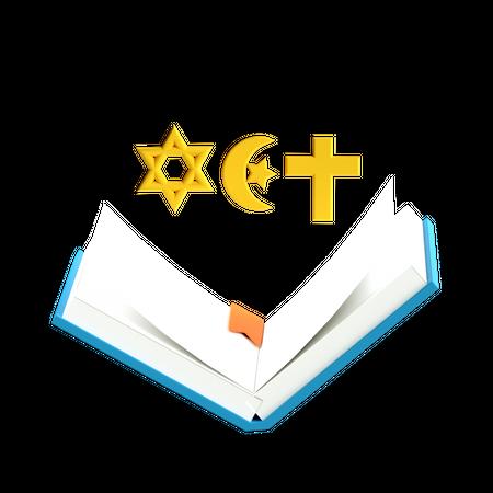 Religious book 3D Illustration