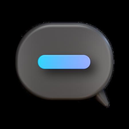 Remove Chat 3D Illustration