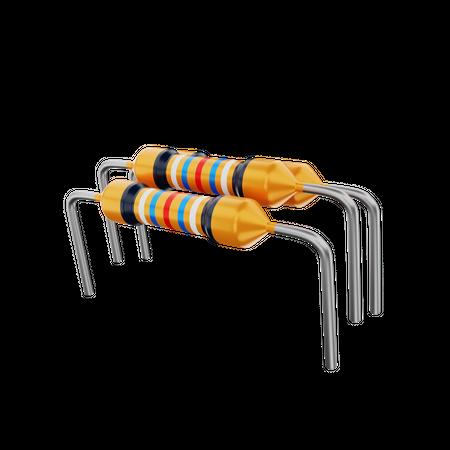 Resistor 3D Illustration