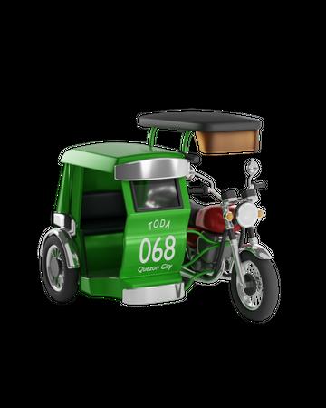 Rickshaw 3D Illustration