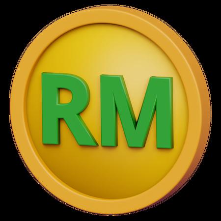Ringgit Coin 3D Illustration