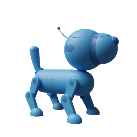 Robotic dog 3D Illustration
