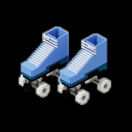 Roller Skates 3D Illustration