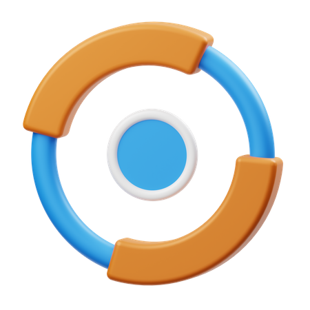 Round Chart 3D Illustration