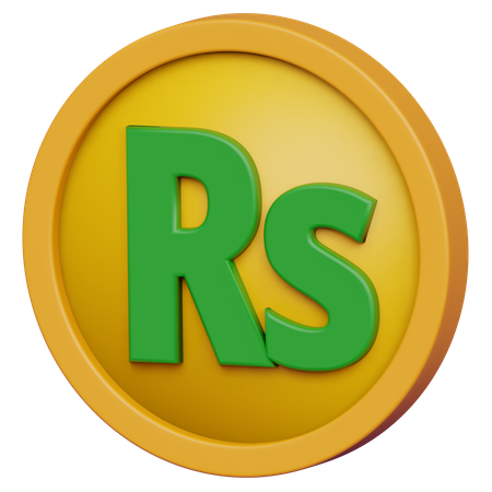 Rupee Coin 3D Illustration