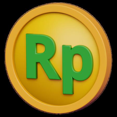 Rupiah Coin 3D Illustration