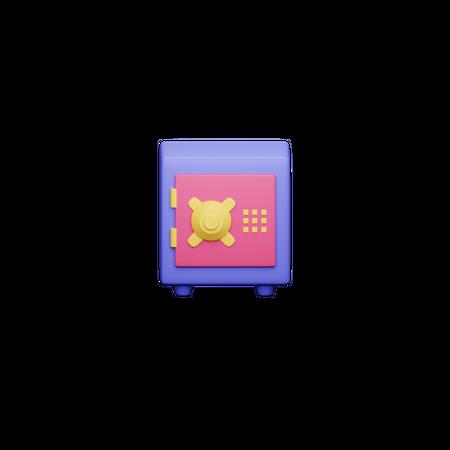Safe Box 3D Illustration