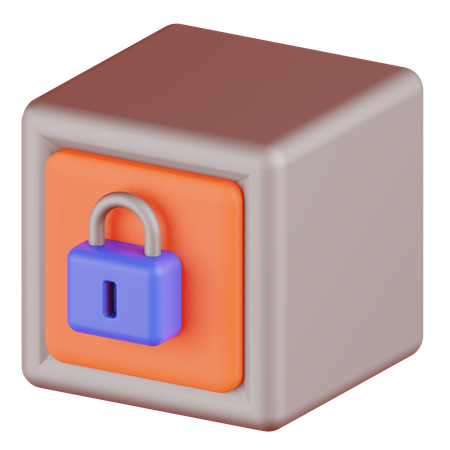 Safety Box 3D Illustration