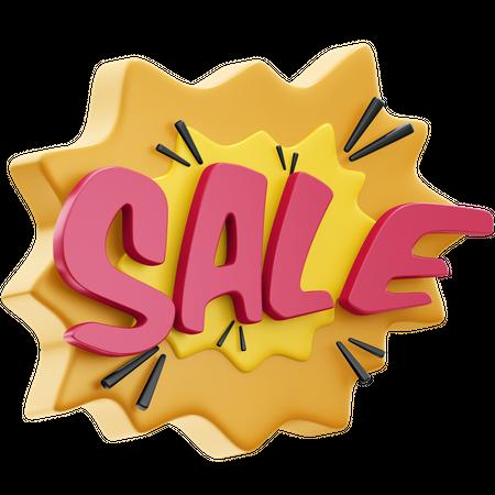 Sale 3D Illustration