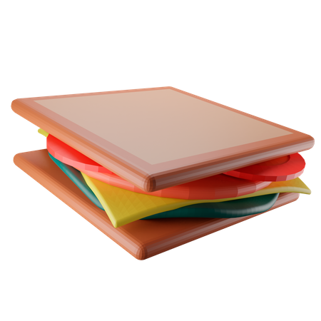 Sandwich 3D Illustration