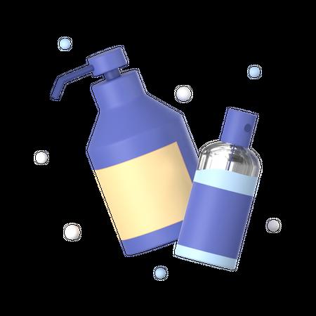Sanitizer 3D Illustration