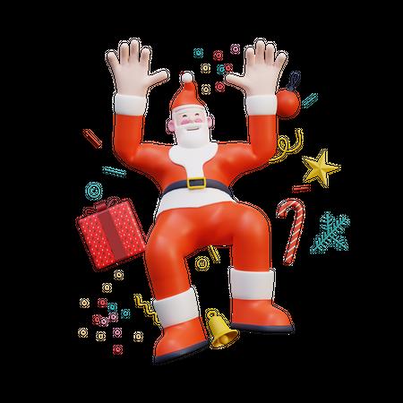 Santa 3D Illustration