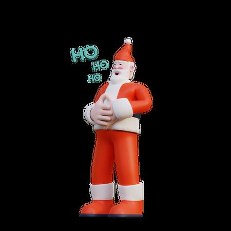 Santa Laughing 3D Illustration