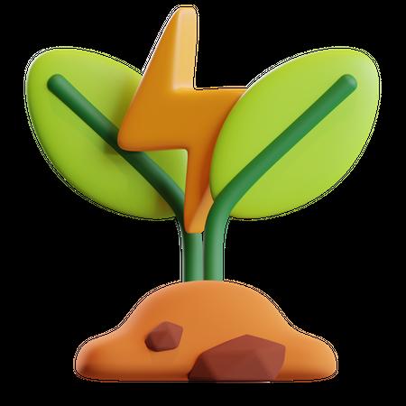 Save Plant 3D Illustration