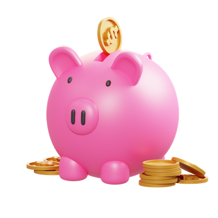 Savings 3D Illustration