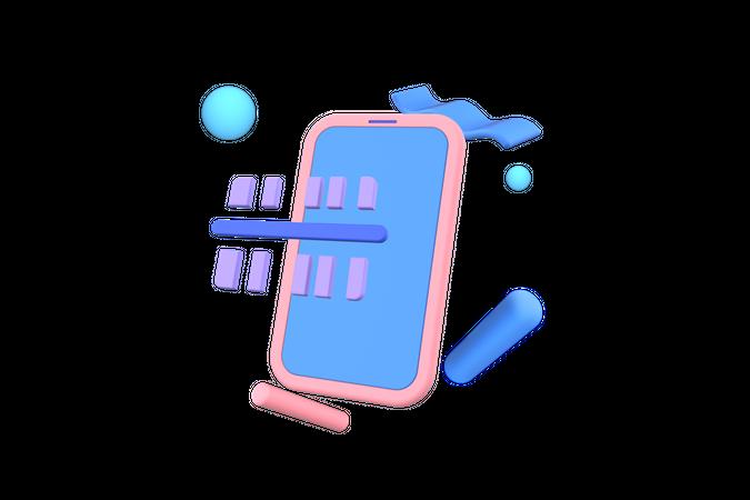 Scan Barcode 3D Illustration