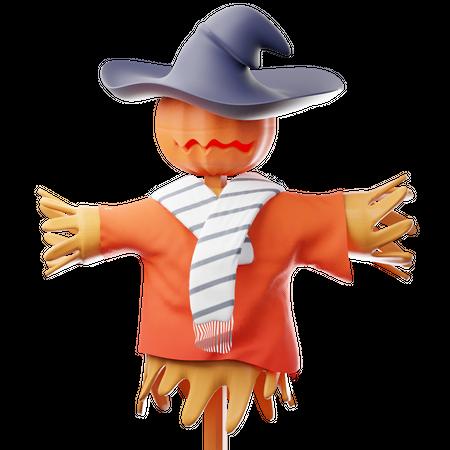 Scarecrow 3D Illustration