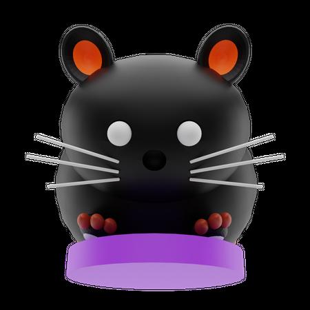 Scary Cat 3D Illustration