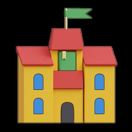 School 3D Illustration