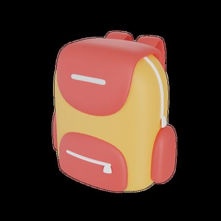 School Backpack 3D Illustration