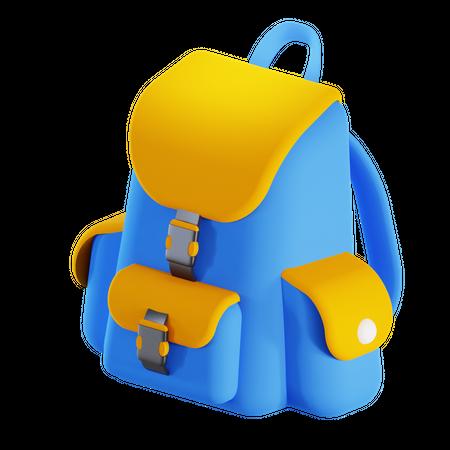 School bag 3D Illustration